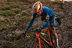 AGOSTINACCHIO Filippo (ITA) during Men Junior race, 2020 UCI Cyclo-cross Worlds Dübendorf, Switzerland, 2 February 2020. Photo by Pim Nijland / Peloton Photos | All photos usage must carry mandatory copyright credit (Peloton Photos | Pim Nijland)