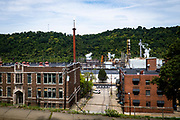 ArcelorMittal coke works in Monessen, Pa. <br /> <br /> In 2014 ArcelorMittal restarted the The ArcelorMittal coke works which has been idle since May 2009. It employs about 180 workers.<br /> <br /> Monessen, a third-class city, faces the same problems as th other former steel towns — declining population and tax revenue after the mills shut down. The city's population has dropped to 7,600 from a high of 20,268 in 1930.