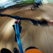 Jay Goodrich chases Rex Flake down the singletrack trails of Steven's Pass Resort.
