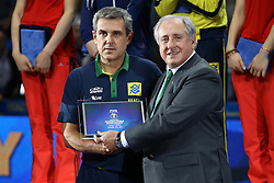 BRAZIL HEAD COACH ZE ROBERTO <br /> AWARDING CEREMONY<br /> VOLLEYBALL WOMEN'S WORLD CHAMPIONSHIP 2014<br /> MILAN 12-10-2014<br /> PHOTO BY FILIPPO RUBIN