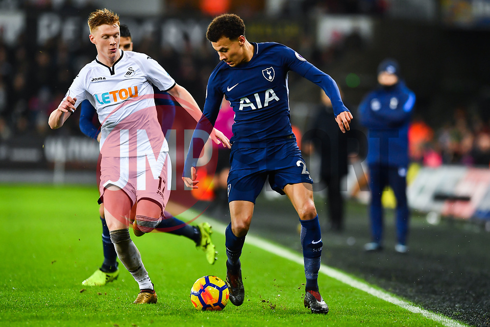 Dele Alli of Tottenham Hotspur in action - Mandatory by-line: Craig Thomas/JMP - 02/01/2018 - FOOTBALL - Liberty Stadium - Swansea, England - Swansea City v Tottenham Hotspur - Premier League