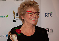 Ros Hubbard, winner of the Spotlight Casting Director Award at the IFTA Film & Drama Awards (The Irish Film & Television Academy) at the Mansion House in Dublin, Ireland, Thursday 15th February 2018. Photographer: Doreen Kennedy