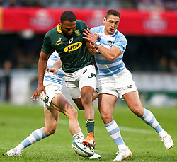 Durban. 180818. Lukhanyo Am of South Africa  during the Rugby Championship match between South Africa and Argentina at Jonsson Kings Park in Durban, South Africa. Picture Leon Lestrade. African News Agency/ANA
