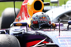 07.09.2014, Autodromo di Monza, Monza, ITA, FIA, Formel 1, Grand Prix von Italien, Renntag, im Bild German Sebastian Vettel from Infiniti Red Bull Racing // during the race day of Italian Formula One Grand Prix at the Autodromo di Monza in Monza, Italy on 2014/09/07. EXPA Pictures © 2014, PhotoCredit: EXPA/ Eibner-Pressefoto/ Cezaro<br /> <br /> *****ATTENTION - OUT of GER*****
