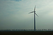 Windmill in windfarm, Netherlands, one of many visible form of sustainable energy to be seen in the Dutch landscape.