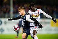 Fotball , 19 November 2017 , Eliteserien , Kristiansund - Sandefjord , Torgil Øwre Gjertsen og El-Hadji Gana Kane<br /> <br /> <br />  , Foto: Marius Simensen, Digitalsport