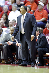 05 January 2008: Saluki coach Chris Lowery. The Redbirds of Illinois State took the bite out of the Salukis of Southern Illinois winning the Conference home opener for the 'birds on Doug Collins Court in Redbird Arena in Normal Illinois by a score of 56-47.