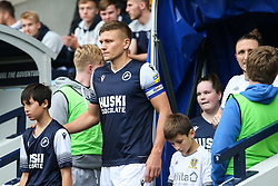 Shaun Hutchinson of Millwall leads the team out - Mandatory by-line: Arron Gent/JMP - 05/10/2019 - FOOTBALL - The Den - London, England - Millwall v Leeds United - Sky Bet Championship