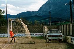 Iurreta, Pais Vasco, Spain <br /> A football match between two women&acute;s teams. A player bemoans the defeat.&copy;Carmen Secanella.