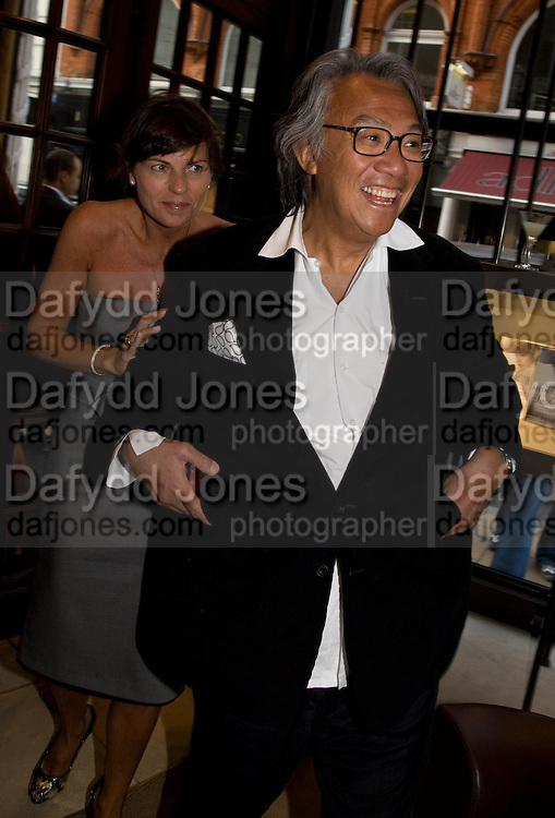 LUCY TANG; DAVID TANG, Book launch party for  Sashenka, a romantic novel set in St Petersburg following a society girl who becomes involved with the Communist Party. By Simon Sebag-Montefiore. Asprey. New Bond St. London. 1 July 2008.  *** Local Caption *** -DO NOT ARCHIVE-© Copyright Photograph by Dafydd Jones. 248 Clapham Rd. London SW9 0PZ. Tel 0207 820 0771. www.dafjones.com.