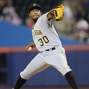 NEW YORK, NEW YORK - June 16: Pitcher Neftali Feliz #30 of the Pittsburgh Pirates pitching during the Pittsburgh Pirates Vs New York Mets regular season MLB game at Citi Field on June 16, 2016 in New York City. (Photo by Tim Clayton/Corbis via Getty Images)
