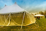 Outside large tents at East Meadow Firefighters Benevolent Hall, March 31, 2012, in East Meadow, New York, USA