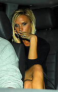 10.OCTOBER.2007. LONDON<br /> <br /> A VERY DRUNK AND SPOTYY LOOKING VICTORIA BECKHAM LEAVING GERI HALIWELL'S HOUSE AT 9.30PM AFTER A LITTLE SPICE GIRLS REUNION WITH MEL C WHO LEFT 15 MINS BEFORE VICTORIA. VICTORIA HAS A VERY SPOTTY FOREHEAD AND SOME EXCESS SKIN ABOVE HER KNEE<br /> <br /> BYLINE: EDBIMAGEARCHIVE.CO.UK<br /> <br /> *THIS IMAGE IS STRICTLY FOR UK NEWSPAPERS AND MAGAZINES ONLY*<br /> *FOR WORLD WIDE SALES AND WEB USE PLEASE CONTACT EDBIMAGEARCHIVE - 0208 954 5968*