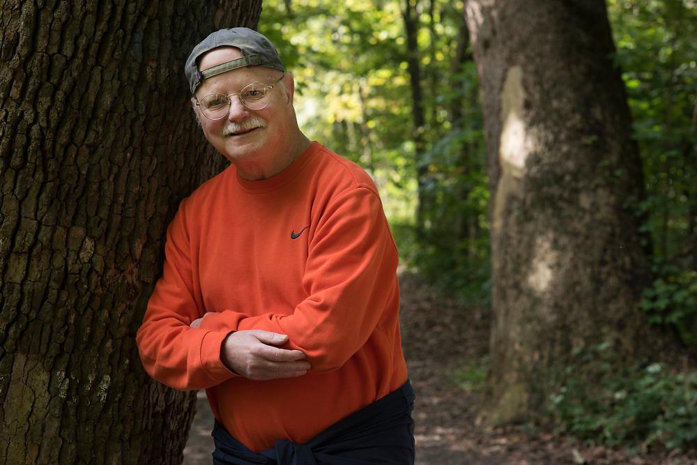 Jim Delaney - park ambassador - in Frick Park in Pittsburgh.