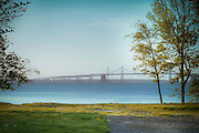 View of the Chesapeake Bay Bridge from a hill leading to Matapeake Beach. Photo by Mario Gozum, Stevensville, MD Photographer.