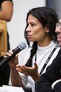 Chrstine Neumann-Ortiz speaks during the Cap Times Idea Fest 2018 at the Pyle Center in Madison, Wisconsin, Saturday, Sept. 29, 2018.