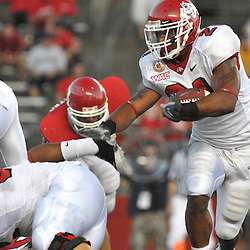 Sept 1, 2008; Piscataway, NJ, USA; Fresno State running back Ryan Mathews (21) turns the corner during the fourth quarter of Fresno State's 24-7 victory over the Rutgers Scarlet Knights.