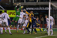 Football - 2012 / 2013 FA Cup - Fifth Round: Oldham Athletic vs. Everton<br /> Oldham's Matt Smith scores with his head to level it at 2-2 and earn a replay at Boundary Park