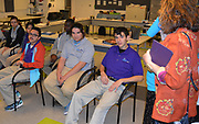 First year H.E.A.R.T. students in class at the Houston Food Bank.
