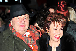 © under license to London News Pictures. 11/03/2011. Barry Humphries and Kathy Lette Attends the press night of The Hurly Burly Show at the Garrick Theatre London . Photo credit should read Alan Roxborough/LNP