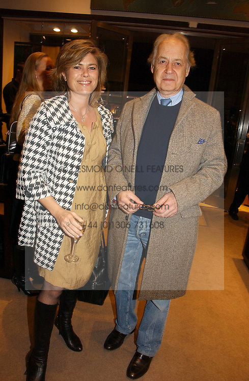 Actor JOHN STANDING and his wife SARAH at the launch of Dunhill by Design by Nick Foulkes held at Alfred Dunhill, 48 Jermyn Street, London on 24th October 2006.<br /><br />NON EXCLUSIVE - WORLD RIGHTS