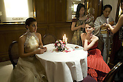 MARIA ABOU NADER AND WERONIKA MISIUREWICZ , Crillon Debutante Ball 2007,  Crillon Hotel Paris. 24 November 2007. -DO NOT ARCHIVE-© Copyright Photograph by Dafydd Jones. 248 Clapham Rd. London SW9 0PZ. Tel 0207 820 0771. www.dafjones.com.