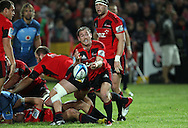 Andy Ellis passes from a ruck..Investec Super Rugby - Crusaders v Bulls, 9 April 2011, Alpine Energy Stadium, Timaru, New Zealand..Photo: Rob Jefferies / www.photosport.co.nz