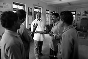 George talks to a group of auto rickshaw drivers in Jananeethi's old office. Jananeethi provides legal support whenever they need, imparts behaviour training and sensitises them socially and culturally.