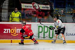 08.01.2017, Ice Rink, Znojmo, CZE, EBEL, HC Orli Znojmo vs Dornbirner Eishockey Club, 41. Runde, im Bild v.l. Michal Vodny (HC Orli Znojmo) James Arniel (Dornbirner) // during the Erste Bank Icehockey League 41th round match between HC Orli Znojmo and Dornbirner Eishockey Club at the Ice Rink in Znojmo, Czech Republic on 2017/01/08. EXPA Pictures © 2017, PhotoCredit: EXPA/ Rostislav Pfeffer