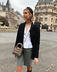 """Mandy Bork releases a photo on Instagram with the following caption: """"So happy to be back in Paris \u2728 #pfw #paris 