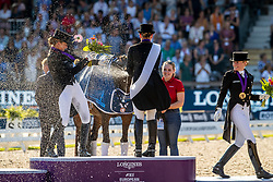 Podium Individual, Werth Isabel, Schneider Dorothee, von Bredow-Werndl Jessica<br /> European Championship Dressage<br /> Rotterdam 2019<br /> © Hippo Foto - Dirk Caremans