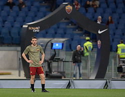 April 18, 2018 - Rome, Italy - Alessandro Florenzi during the Italian Serie A football match between A.S. Roma and AC Genoa at the Olympic Stadium in Rome, on april 18, 2018. (Credit Image: © Silvia Lore/NurPhoto via ZUMA Press)