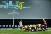 Charly Trussardi (ASM Clermont), Maxime MACHENAUD (Racing Metro 92) during the French Championship Top 14 Rugby Union match between Racing 92 and ASM Clermont Auvergne on January 7, 2018 at U Arena in Nanterre, France - Photo Stephane Allaman / ProSportsImages / DPPI