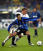 Milano 26/10/2003 <br />Inter Roma 0-0 <br />Kiki Gonzalez (Inter) e Daniele De Rossi  (Roma) <br />Foto Andrea Staccioli / Graffiti