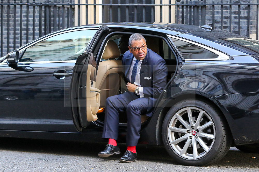 © Licensed to London News Pictures. 22/10/2019. London, UK. Conservative Party Co-Chair JAMES CLEVERLY arrives in Downing Street to attend the weekly cabinet meeting. Photo credit: Dinendra Haria/LNP