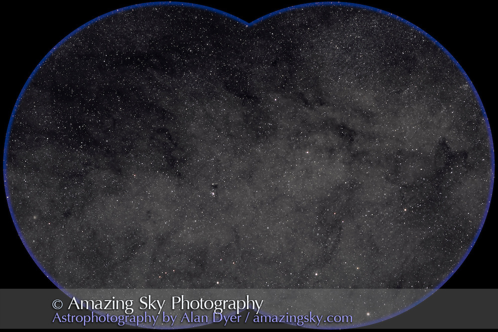 Sagittarius star cloud with B86 and NGC 6520 cluster near centre. Taken with Canon 20Da camera at ISO 400 and Canon 200mm L Lens at f/4 and for 4.5 minutes. Stack of two exposures. Taken from Coonabarabran, NSW, Australia, July 2006