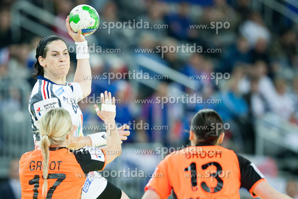 Alexandra Lacrabere #64 of France at handball match between Netherlands and France at 11th EHF European Women's Handball Championship Hungary-Croatia 2014, on December 17, 2014 in Arena Zagreb, Zagreb, Croatia. Photo By Urban Urbanc / Sportida