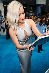 © Licensed to London News Pictures. 09/05/2016.  JENNIFER LAWRENCE attends the global fan screening of X-Men: Apocalypse.  London, UK. Photo credit: Ray Tang/LNP