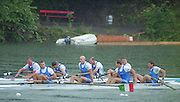 Lucerne, SWITZERLAND, GBR M4- Bow James CRACKNELL 2. Steve REDGRAVE, 3. Tim FOSTER and stroke Matt PINSENT. forground  bow. Valter MOLEA, 2. Riccardo DEI ROSSI, 3. Lorenzo CARBONCINI and stroke Carlo MORNATI.  2000 FISA World Cup, Rotsee Rowing Course, June 2000.  [Mandatory Credit, Peter Spurrier/Intersport-images] 2000 FISA World Cup, Lucerne, SWITZERLAND