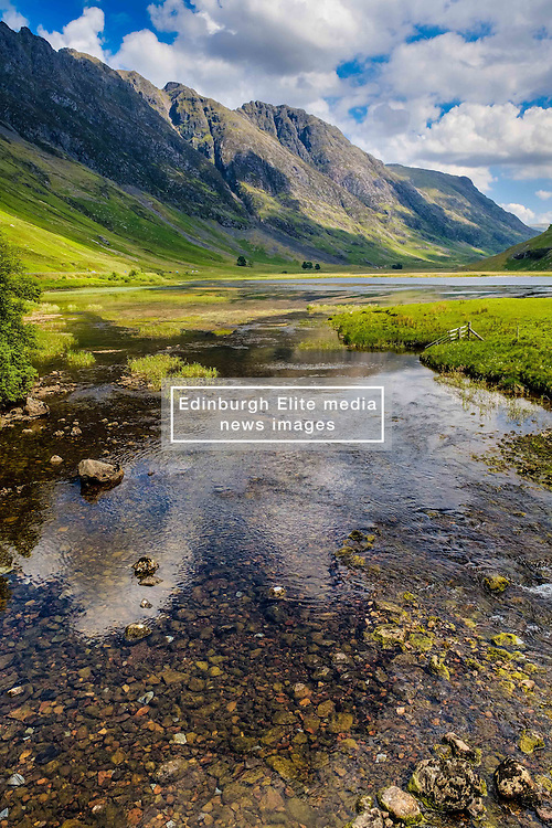 The River Coe flowing into Loch Achtriochtan in Glencoe, Highlands of Scotland<br /> <br /> (c) Andrew Wilson | Edinburgh Elite media