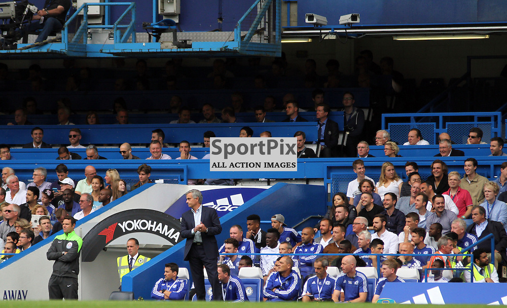 Jose Mourinho claps the Crystal Palace fansDuring Chelsea vs Crystal Palace on Saturday the 29th August 2015