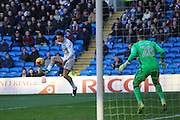 Jack Grealish of Aston Villa has a shot during the EFL Sky Bet Championship match between Cardiff City and Aston Villa at the Cardiff City Stadium, Cardiff, Wales on 2 January 2017. Photo by Andrew Lewis.