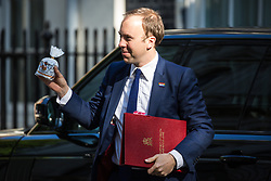 London, UK. 21 May, 2019. Matt Hancock MP, Secretary of State for Health and Social Care, arrives at 10 Downing Street for a Cabinet meeting.