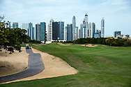 1st Tee at The Address Montgomerie Golf Club, Dubai, United Arab Emirates.  27/01/2016. Picture: Golffile | David Lloyd<br /> <br /> All photos usage must carry mandatory copyright credit (© Golffile | David Lloyd)