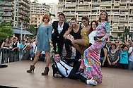 Fauve Hautot, Vincent Cerutti, Yann-Alrick, Silvia Notargiacomo, Jaclyn Spencer, Chris Marques and Sandrine Quetier perform during the 54th Monte-Carlo Television Festival at Grimaldi Forum on June 8, 2014 in Monte-Carlo, Monaco