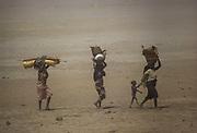 Sand storm in desertified Sahel near Mopti.