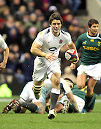 © SPORTZPICS /Seconds Left Images 2010 - Ben Foden races clear to score England's only try   England v South Africa  - Investec Challenge Series - 27/11/20110 - Twickenham Stadium  - London - All rights reserved.