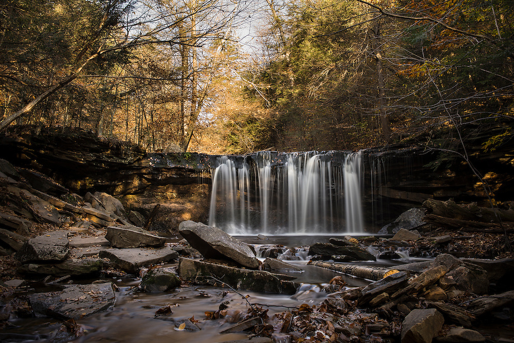 A long exposure at Ricketts Glenn in Autumn