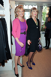 Left to right, DAWNIE PERRETT and ROSEMARY, MARCHIONESS OF NORTHAMPTON at a ladies lunch at Ralph Laren, Westbourne Grove, London W11 hosted by Too Many Women in Support of Breakthrough Breast Cancer on 4th October 2010.