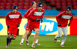 Landon Donovan of USA warms up during training session at Ellis Park on June 17, 2010 in Johannesburg, South Africa. USA will play their next World Cup Group C match against Slovenia at Ellis Park on Friday June 18, 2010, in Johannesburg, South Africa.  (Photo by Vid Ponikvar / Sportida)